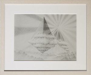 Fulvio di Piazza -  <strong>Il Tramonto di Seth</strong> (2016<strong style = 'color:#635a27'></strong>)<bR /> pencil on paper, 12 x 9 inches, (30.5 x 23 cm), framed: 13.5 x 16.5 inches, (34.3 x 41.9 cm)