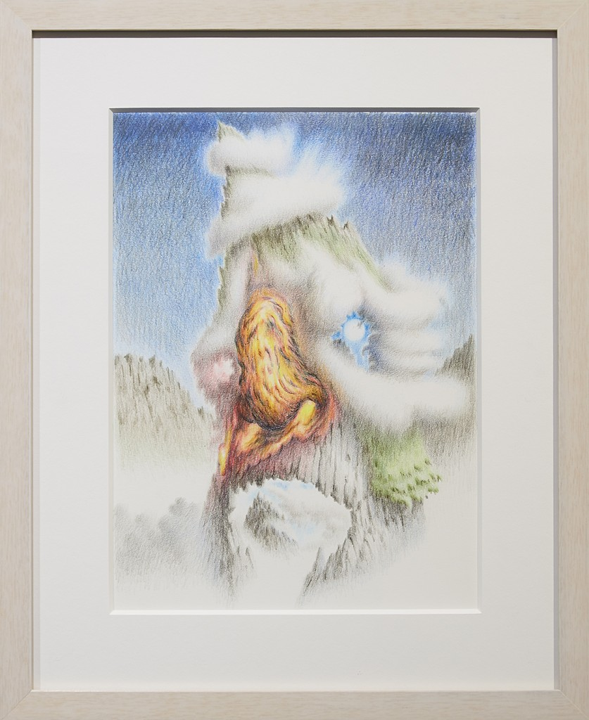 Fulvio di Piazza -  <strong>Magmanose</strong> (2016<strong style = 'color:#635a27'></strong>)<bR /> pencil on paper, 12 x 9 inches, (30.5 x 23 cm), framed: 16.5 x 13.5 inches, (41.9 x 34.3 cm)
