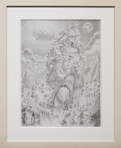 Fulvio di Piazza -  <strong>Multifocus</strong> (2016<strong style = 'color:#635a27'></strong>)<bR /> pencil on paper, 12.9 x 9.4 inches, (33 x 24 cm), framed: 16.5 x 13.5 inches, (41.9 x 34.3 cm)