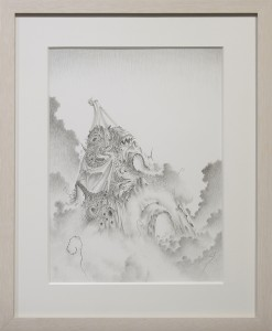 Fulvio di Piazza -  <strong>New Age</strong> (2016<strong style = 'color:#635a27'></strong>)<bR /> pencil on paper, 12.9 x 9.4 inches, (33 x 24 cm), framed: 16.5 x 13.5 inches, (41.9 x 34.3 cm)