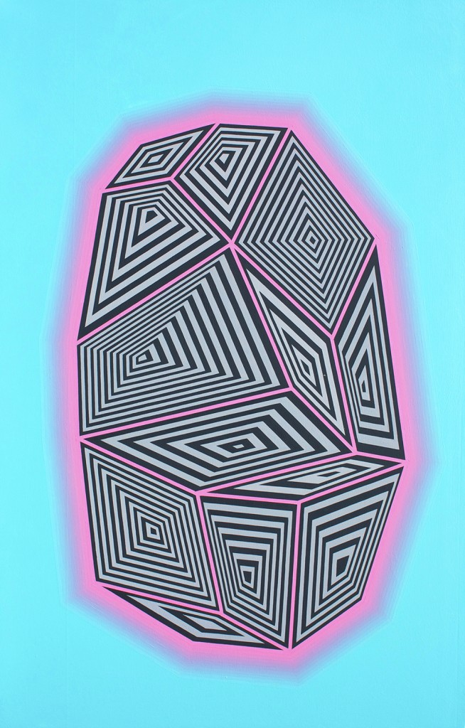 Jaime Brett Treadwell -  <strong>Miami</strong> (2016<strong style = 'color:#635a27'></strong>)<bR /> oil on panel,  28 x 18 inches, (71.1 x 45.7 cm)