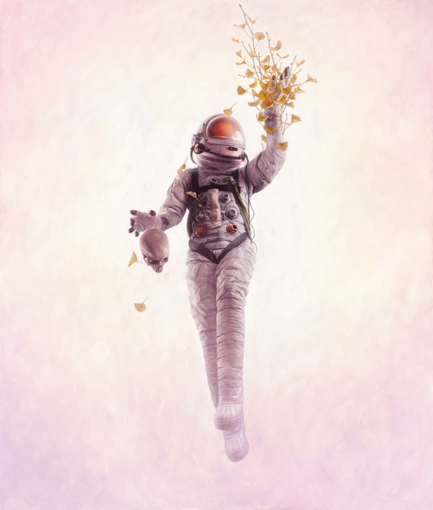 Jeremy Geddes -  <strong>Foundation</strong> (2016<strong style = 'color:#635a27'></strong>)<bR /> oil on board, 40.15 x 47.24 inches, (102 x 120 cm)