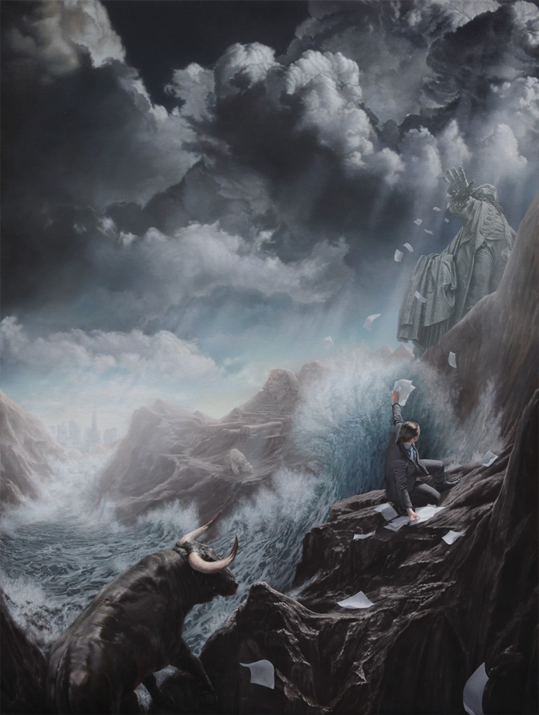 Joel Rea -  <strong>Last Man Standing</strong> (2016<strong style = 'color:#635a27'></strong>)<bR /> oil on canvas, 48 x 36.2 inches, (122 x 92 cm) $20,000