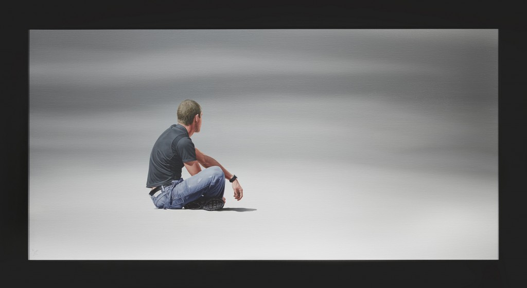Nigel Cox -  <strong>From the Ashes</strong> (2016<strong style = 'color:#635a27'></strong>)<bR /> oil in linen, 24 x 48 inches  (60.9 x 121.9 cm), framed: 29 x 52 inches, (73.7 x 132.1 cm)