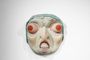 Paolo Del Toro -  <strong>Baba Yaga</strong> (2016<strong style = 'color:#635a27'></strong>)<bR /> sculpted Styrofoamcore covered with hand-dyed needle felted merino wool, 26 x 26 x 8 inches, (66 x 66 x 20.3 cm)