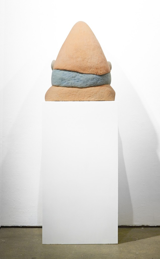 Paolo Del Toro -  <strong>Sleeping Witch (back)</strong> (2016<strong style = 'color:#635a27'></strong>)<bR /> sculpted Styrofoamcore covered with hand-dyed needle felted merino wool, 23 x 19 x 10 inches, (58.4 x 48.3 x 25.4 cm)