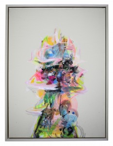David Choong Lee -  <strong>Figure 6</strong> (2017<strong style = 'color:#635a27'></strong>)<bR /> acrylic, latex and aerosol paint, 24 x 18 inches,  (60.96 x 45.72 cm) $2,100