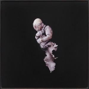 Jeremy Geddes -  <strong>Fall 2</strong> (2016<strong style = 'color:#635a27'></strong>)<bR /> oil on board, 17.71 x 17.71 inches, (44.98 x 44.98 cm). Framed: 18.5 x 18.5 inches, (46.99 x 46.99 cm)