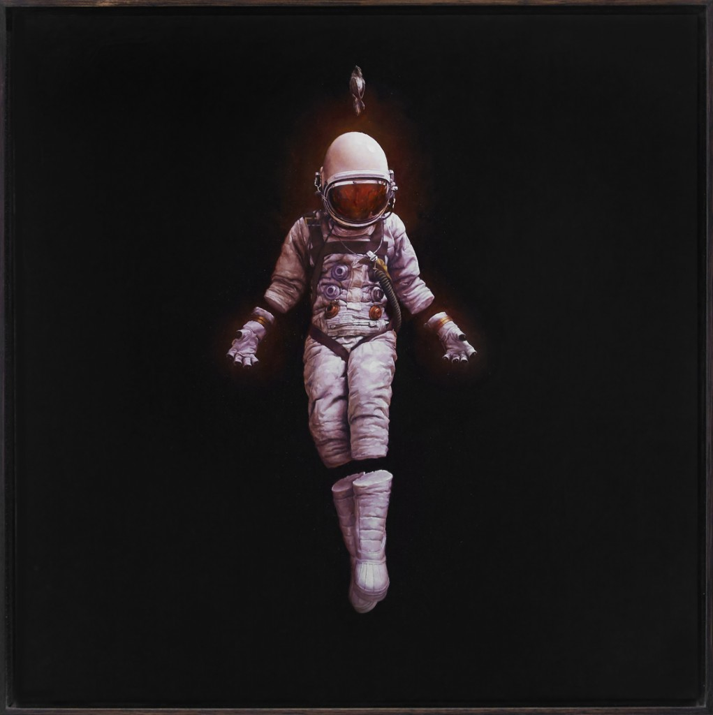 Jeremy Geddes -  <strong>Fall</strong> (2016<strong style = 'color:#635a27'></strong>)<bR /> oil on board, 17.71 x 17.71 inches, (44.98 x 44.98 cm). Framed: 18.5 x 18.5 inches, (46.99 x 46.99 cm)