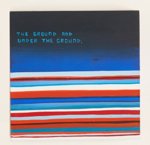 Jim Houser -  <strong>Underground</strong> (2016<strong style = 'color:#635a27'></strong>)<bR /> acrylic on panel, 4 x 4 inches, (10.16 x 10.16 cm) $400