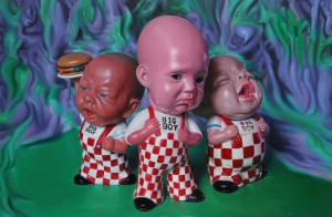 Ron English -  <strong>Big Boys Don't Cry</strong> (2012<strong style = 'color:#635a27'></strong>)<bR /> oil on canvas, 24 x 36 inches, (60.96 x 91.44 cm) $20,000