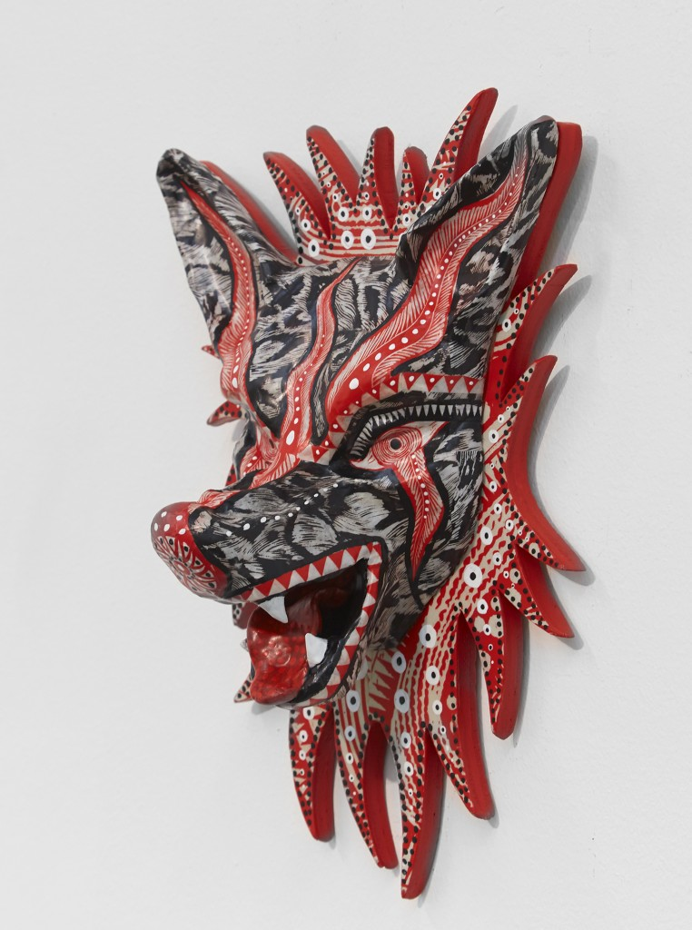 Dennis McNett -  <strong>Seven Direction Wolves (edition 1/7)</strong> (2017<strong style = 'color:#635a27'></strong>)<bR /> epoxy cast forms, wood base, woodcut print, 13 x 8.5 x 5 inches, (33.02 x 21.6 x 12.7 cm) $600