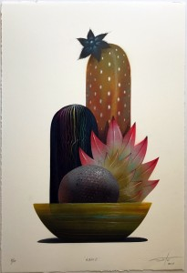 Jeff Soto -  <strong>Kahlo (edition 4/10)</strong> (2017<strong style = 'color:#635a27'></strong>)<bR /> Stencil print hand embellished with spray paint, acrylic and colored pencil on archival Arches paper, 22 x 15 inches, (55.9 x 38.1 cm) $300