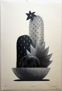 Jeff Soto -  <strong>Kollwitz (edition 9/10)</strong> (2017<strong style = 'color:#635a27'></strong>)<bR /> Stencil print hand embellished with spray paint, acrylic and colored pencil on archival Arches paper, 22 x 15 inches, (55.9 x 38.1 cm) $300