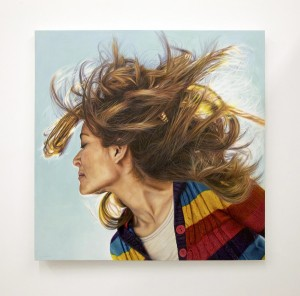 Diana Carolina Lopez (Honorable Mention) -  <strong>12,810 Minutes with Gabriela</strong> (2014<strong style = 'color:#635a27'></strong>)<bR /> oil on canvas, 51 x 51 inches, $10,000