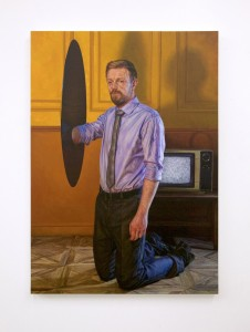 Ian Cumberland -  <strong>Black Hole II</strong> (2016<strong style = 'color:#635a27'></strong>)<bR /> oil on linen, 55.1 x 39.4 inches, $12,500
