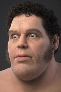 Trent Taft -  <strong>Andre the Giant (detail)</strong> (2017<strong style = 'color:#635a27'></strong>)<bR /> silicone, rigid foam, human hair, 32 x 27 x 22 inches