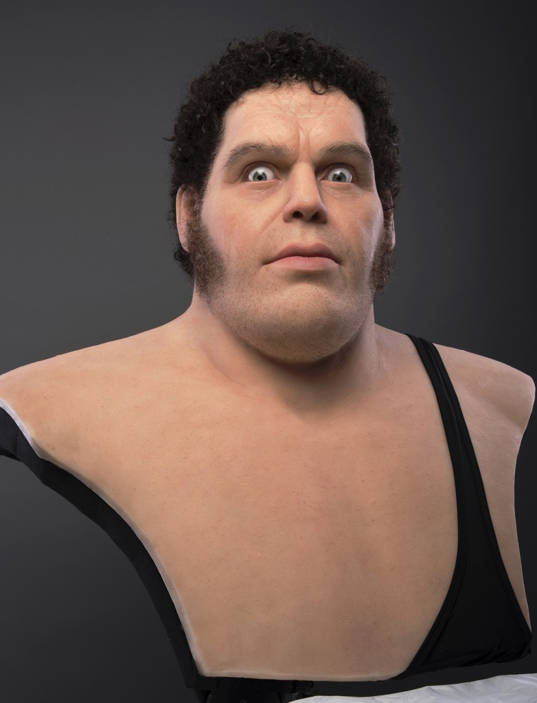 Trent Taft -  <strong>Andre the Giant</strong> (2017<strong style = 'color:#635a27'></strong>)<bR /> silicone, rigid foam, human hair, 32 x 27 x 22 inches