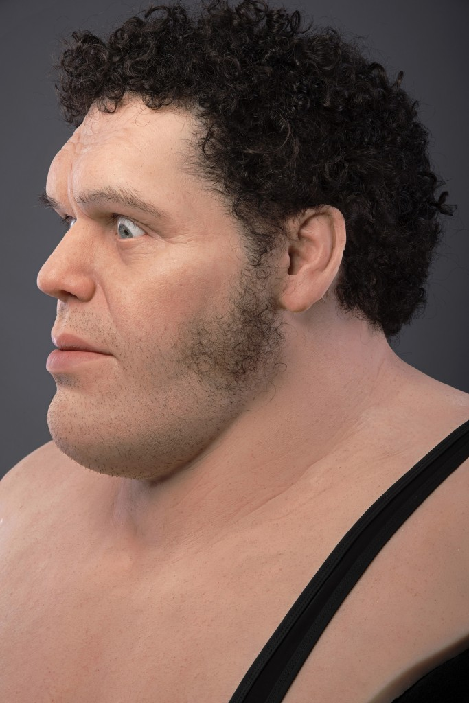 Trent Taft -  <strong>Andre the Giant (side)</strong> (2017<strong style = 'color:#635a27'></strong>)<bR /> silicone, rigid foam, human hair, 32 x 27 x 22 inches