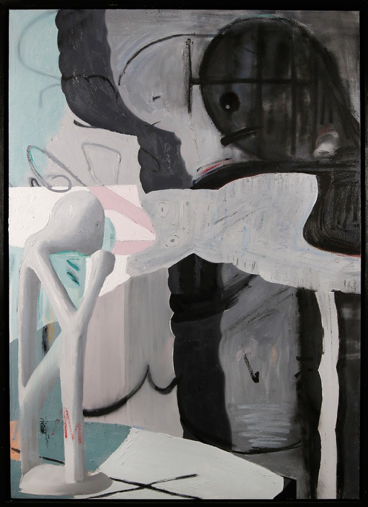 Brett Amory -  <strong>I Am Therefore I Think</strong> (2017<strong style = 'color:#635a27'></strong>)<bR /> oil on canvas, 42 x 60 inches