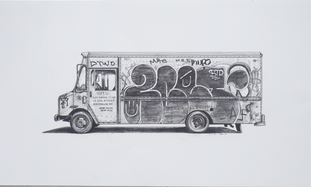 Kevin Cyr -  <strong>RH Baking II</strong> (2017<strong style = 'color:#635a27'></strong>)<bR /> graphite on paper, 12 x 18 inches, (framed: 13.25 x 19.25 inches), $1,200
