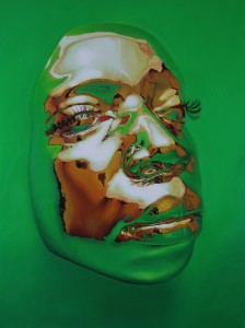 Kip Omolade -  <strong>Diovadiova Chrome Diana III</strong> (2014<strong style = 'color:#635a27'></strong>)<bR /> oil on canvas 36 x 48 inches $10,000