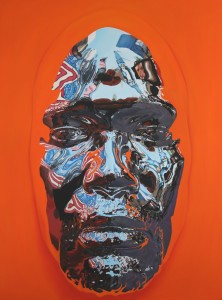 Kip Omolade -  <strong>Diovadiova Chrome Kip VI </strong> (2017<strong style = 'color:#635a27'></strong>)<bR /> oil on canvas 72 x 96 inches