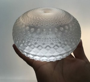 Mario Martinez (Mars-1) -  <strong>Tactile Torus	(edition of 24)</strong> (2017<strong style = 'color:#635a27'></strong>)<bR /> glass cast tactile Torus, 6 inch diameter, $2,200