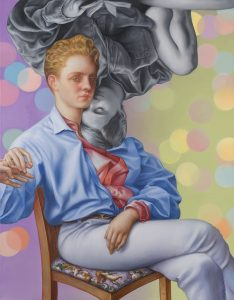 Jamie Adams -  <strong>Bubba Jeannie</strong> (2018<strong style = 'color:#635a27'></strong>)<bR /> oil on linen, 54 x 42 inches