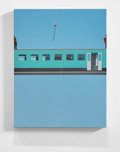 Radoslaw Liwen -  <strong>TTC6</strong> (2016<strong style = 'color:#635a27'></strong>)<bR /> acrylic on linen, 20 x 16 inches