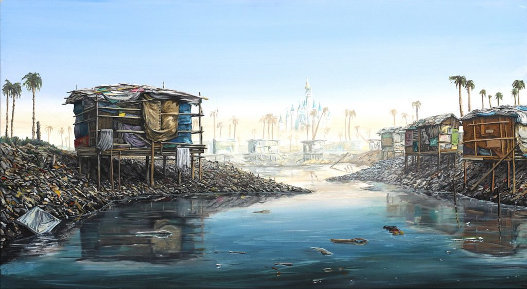 Jeffrey Gillette -  <strong>Southern California</strong> (2017<strong style = 'color:#635a27'></strong>)<bR /> oil on canvas, 20 x 36 inches