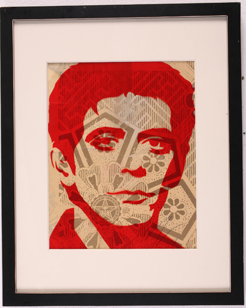 Shepard Fairey -  <strong>Lou Reed</strong> (2007<strong style = 'color:#635a27'></strong>)<bR /> rubylith small 12 x 15 inches