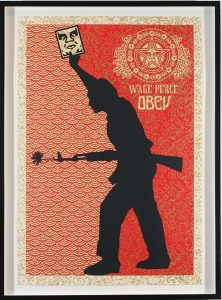 Shepard Fairey -  <strong>OBEY 04</strong> (2007<strong style = 'color:#635a27'></strong>)<bR /> Screenprint S/N Edition of 10 29 x 42 inches