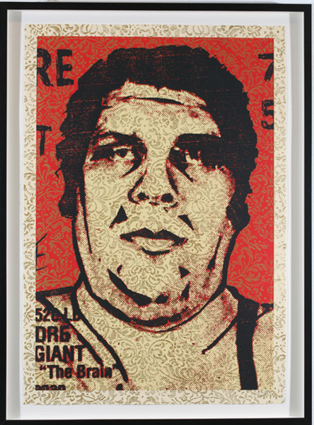 Shepard Fairey -  <strong>OBEY '89</strong> (2009<strong style = 'color:#635a27'></strong>)<bR /> screenprint S/N Edition of 10 29 x 42 inches