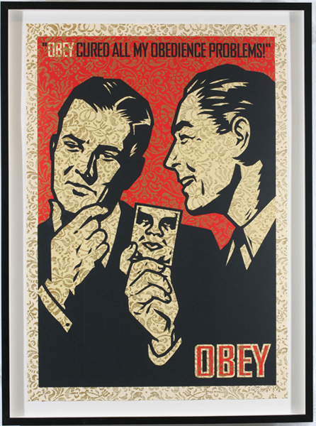 Shepard Fairey -  <strong>OBEY '99</strong> (2007<strong style = 'color:#635a27'></strong>)<bR /> screenprint S/N Edition of 10 29 x 42 inches
