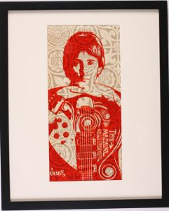 Shepard Fairey -  <strong>This Machine Kills Fascists</strong> (2007<strong style = 'color:#635a27'></strong>)<bR /> rubylith large 16 x 20 inches