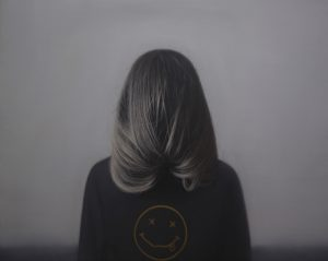 Daniel Coves (3rd Place Winner - Liquitex Emerging Artist Prize) -  <strong>Blind Portrait No. 5</strong> (2018<strong style = 'color:#635a27'></strong>)<bR /> oil on linen, 31.5 x 39.4 inches