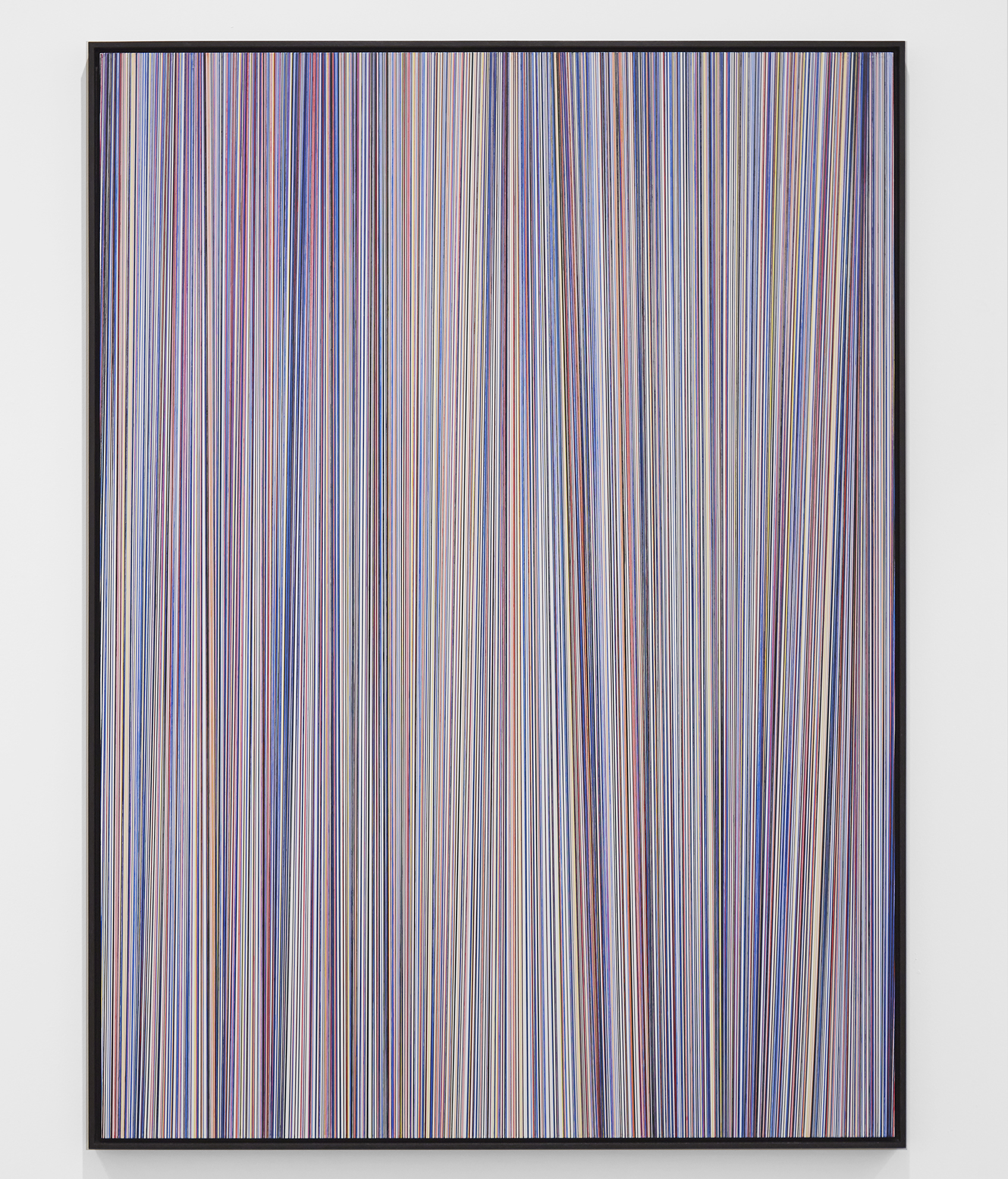 Kai & Sunny -  <strong>Spectrum Vertical</strong> (2018<strong style = 'color:#635a27'></strong>)<bR /> acrylic on 32mm aluminium panel and framed in black stained oak, 44.5 x 60.2 inches (framed)