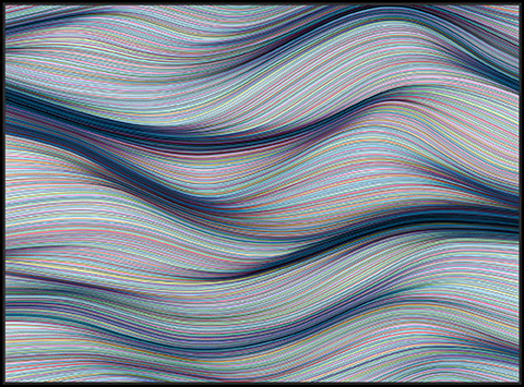 Kai & Sunny -  <strong>Twists & Turns</strong> (2018<strong style = 'color:#635a27'></strong>)<bR /> acrylic on 32mm aluminium panel and framed in black stained oak, 60.2 x 44.5 inches (framed)