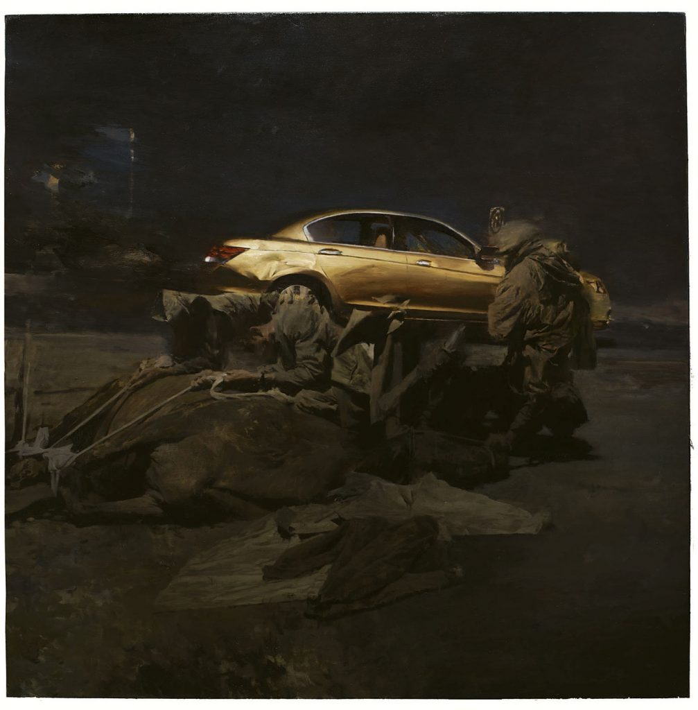 Phil  Hale -  <strong>Life Wants to Live</strong> (2014<strong style = 'color:#635a27'></strong>)<bR /> (1),   oil on linen,   54 x 54 inches  (137.16 x 137.16 cm)