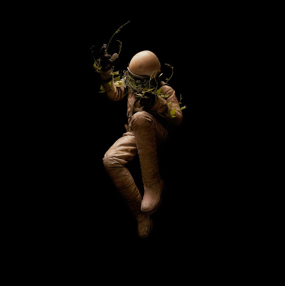 Jeremy  Geddes -  <strong>Ascent</strong> (2013<strong style = 'color:#635a27'></strong>)<bR /> oil on board,   29.5 x 29.5 inches  (74.95 x 74.95 cm)