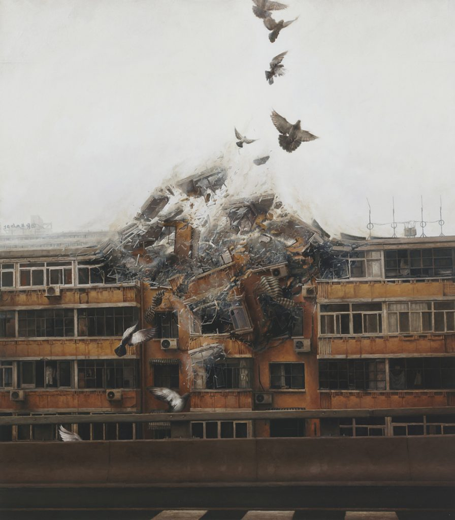 Jeremy  Geddes -  <strong>Begin Again</strong> (2011<strong style = 'color:#635a27'></strong>)<bR /> oil on board,   22 x 19.5 inches (55.88 x 49.53 cm)  28.75 x 25.375 x 1.75 inches, framed