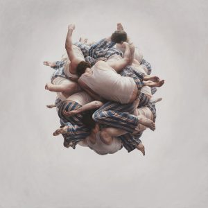 Jeremy  Geddes -  <strong>Cluster</strong> (2011<strong style = 'color:#635a27'></strong>)<bR /> oil on board,   44.5 x 44.5 inches (113 x 113 cm)  48 x 48 x 2.125 inches, framed