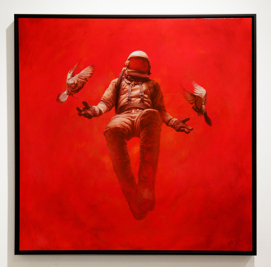 Jeremy  Geddes -  <strong>Hypostasis</strong> (2014<strong style = 'color:#635a27'></strong>)<bR /> oil on board,   36 x 36 inches  (88.9 x 88.9 cm),   37 1/2 x 37 1/2 inches, framed