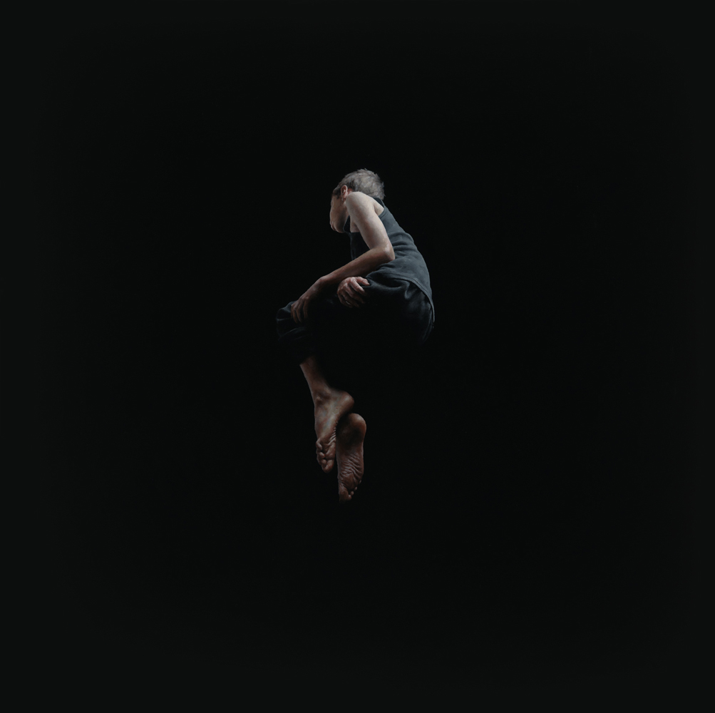 Jeremy  Geddes -  <strong>Misere 3</strong> (2012<strong style = 'color:#635a27'></strong>)<bR /> oil on board,   17.5 x 17.5 inches (44.45 x 44.45 cm)  22.625 x 22.625 x 1.5 inches, framed