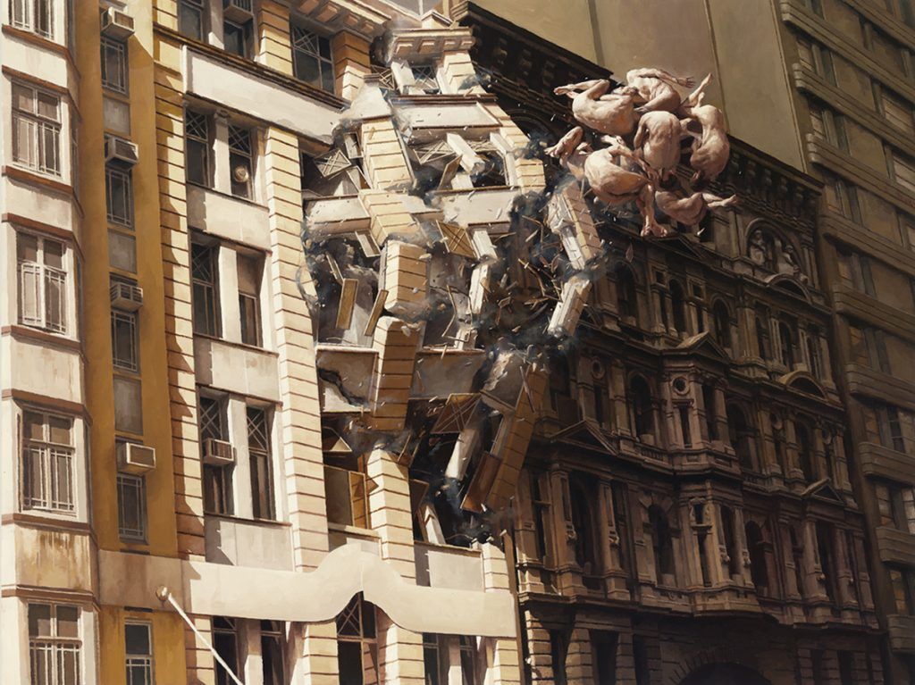 Jeremy  Geddes -  <strong>Pale Memory</strong> (2011<strong style = 'color:#635a27'></strong>)<bR /> oil on board,   13 x 17.25 inches (33 x 43.82 cm)  19 x 23.25 x 1.625 inches, framed