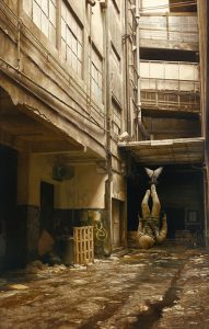 Jeremy  Geddes -  <strong>Warmer Air</strong> (2011<strong style = 'color:#635a27'></strong>)<bR /> oil on board,   22.25 x 14 inches (56.52 x 35.56 cm)  28.25 x 19.875 x 1.625 inches, framed