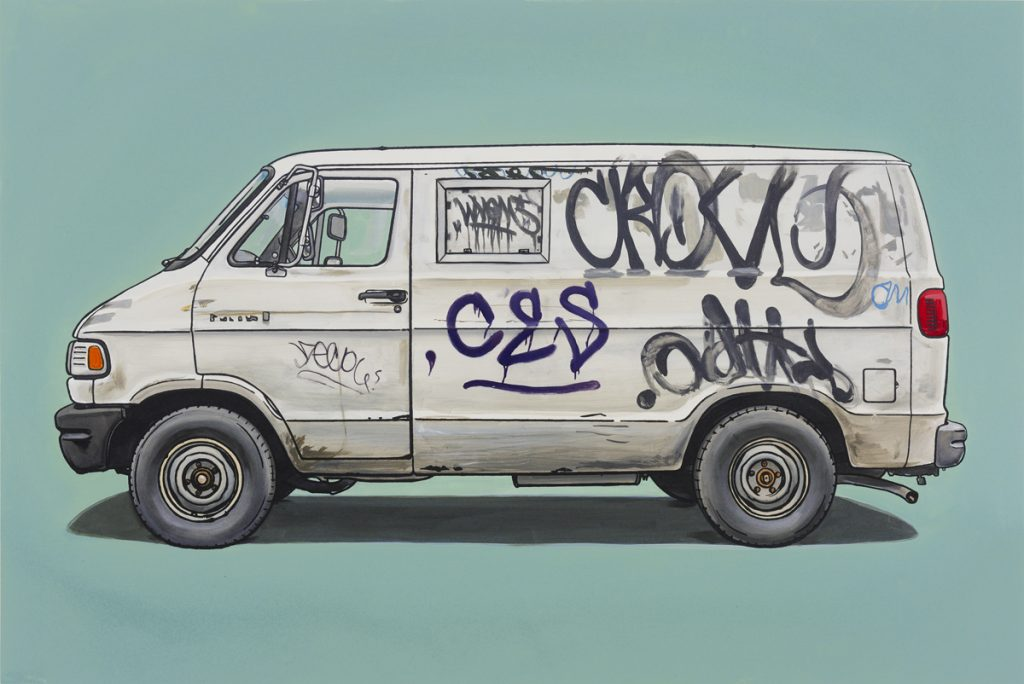 Kevin  Cyr -  <strong>West</strong> (2012<strong style = 'color:#635a27'></strong>)<bR /> oil and silkscreen on panel,   20 x 30 inches  (50.8 x 76.2 cm),   Hand-painted multiple (HPM)  Edition of 5
