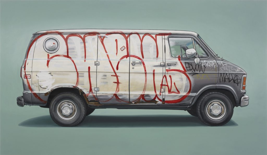 Kevin  Cyr -  <strong>Roebling</strong> (2012<strong style = 'color:#635a27'></strong>)<bR /> oil on panel,   28 x 48 inches  (71.12 x 121.92 cm)