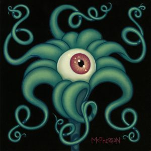 Tara  McPherson -  <strong>The Day's Eye (Lily)</strong> (2010<strong style = 'color:#635a27'></strong>)<bR /> oil on linen, stretched over panel,   9 x 9 inches   (22.86 x 22.86 cm)